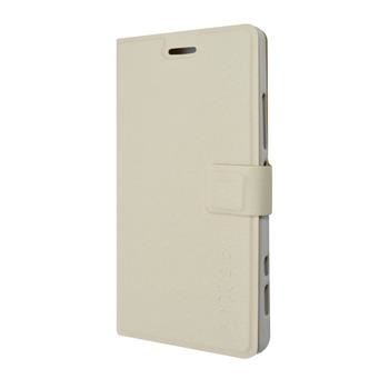 Pouzdro typu kniha FIXED s gelovou vaničkou pro Lenovo Vibe Shot, bílé