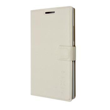 Pouzdro typu kniha FIXED s gelovou vaničkou pro Lenovo P70, bílé