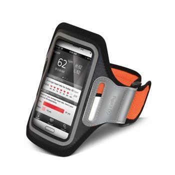 Sportovní neoprénové pouzdro CELLY, velikost XXL pro Samsung Galaxy S4 a telefony podobných rozměrů, oranžové