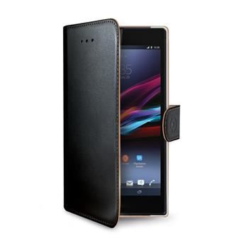 Pouzdro typu kniha CELLY Wally pro Sony Xperia Z3+, PU kůže, černé