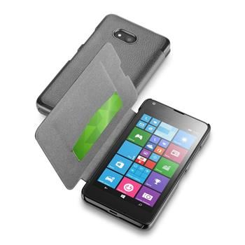 Pouzdro typu kniha CellularLine Book Essential pro Microsoft Lumia 640 / 640 Dual SIM, černé
