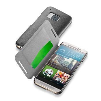 Pouzdro typu kniha CellularLine Book Essential pro HTC One (M9), černé
