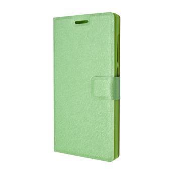 Pouzdro typu kniha FIXED s gelovou vaničkou pro Lenovo A1000, zelené
