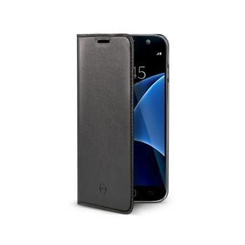 Ultra tenké pouzdro typu kniha CELLY Air pro Samsung Galaxy S7, PU kůže, černé