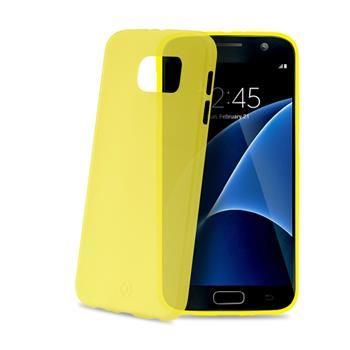 Ultra tenké TPU pouzdro CELLY Frost pro Samsung Galaxy S7, 0,29 mm, žluté