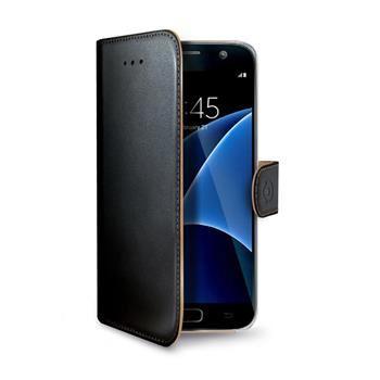Pouzdro typu kniha CELLY Wally pro Samsung Galaxy S7, PU kůže, černé