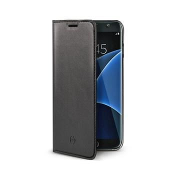 Ultra tenké pouzdro typu kniha CELLY Air pro Samsung Galaxy S7 Edge, PU kůže, černé