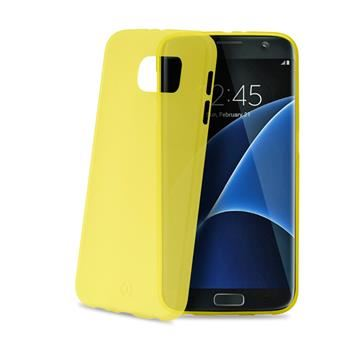 Ultra tenké TPU pouzdro CELLY Frost pro Samsung Galaxy S7 Edge, 0,29 mm, žluté