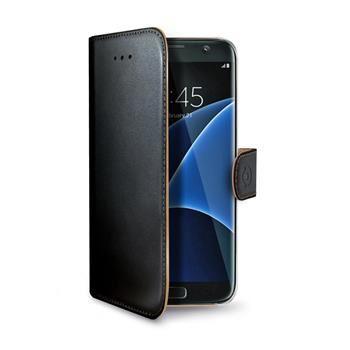 Pouzdro typu kniha CELLY Wally pro Samsung Galaxy S7 Edge, PU kůže, černé