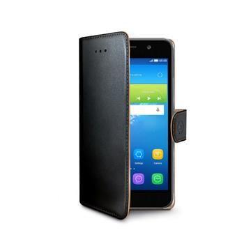 Pouzdro typu kniha CELLY Wally pro Huawei  Y6, PU kůže, černé