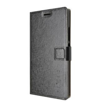 Pouzdro typu kniha FIXED s gelovou vaničkou pro Huawei Ascend P7, černé