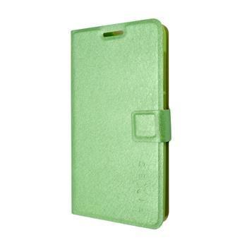 Pouzdro typu kniha FIXED s gelovou vaničkou pro Lenovo A536, zelené