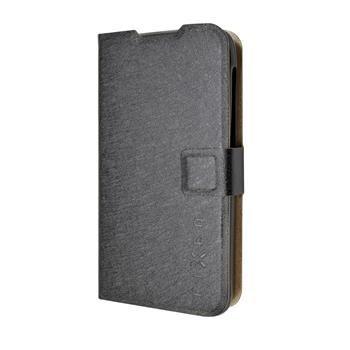 Pouzdro typu kniha FIXED s gelovou vaničkou pro Lenovo A328, černé