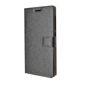 Pouzdro typu kniha FIXED s gelovou vaničkou pro Lenovo A5000, černé