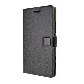 Pouzdro typu kniha FIXED s gelovou vaničkou pro Lenovo Vibe Shot, černé