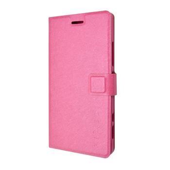 Pouzdro typu kniha FIXED s gelovou vaničkou pro Lenovo Vibe Shot, růžové