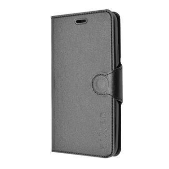 Pouzdro typu kniha FIXED s gelovou vaničkou pro Huawei Y6, černé