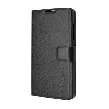 Pouzdro typu kniha FIXED s gelovou vaničkou pro Lenovo A2010, černé