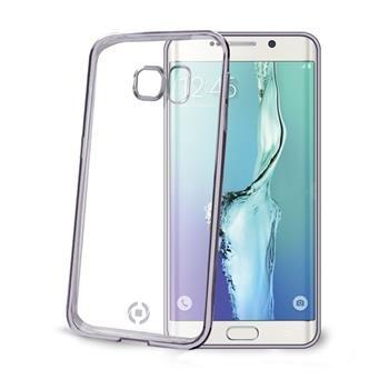 TPU pouzdro CELLY Laser - lemování s kovovým efektem pro Samsung Galaxy S6 Edge, černé