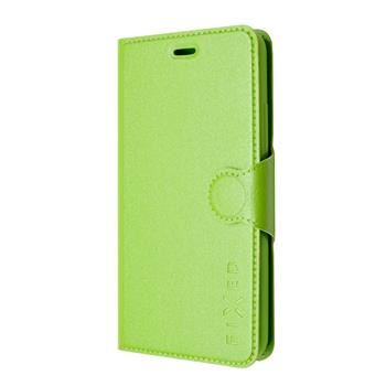 Pouzdro typu kniha FIXED s gelovou vaničkou pro Samsung Galaxy J5, zelené