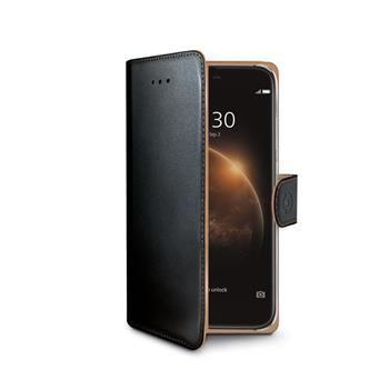 Pouzdro typu kniha CELLY Wally pro Huawei G8, PU kůže, černé