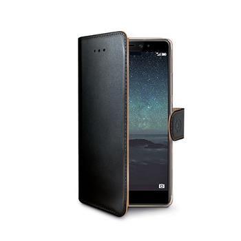 Pouzdro typu kniha CELLY Wally pro Huawei Ascend Mate S, PU kůže, černé