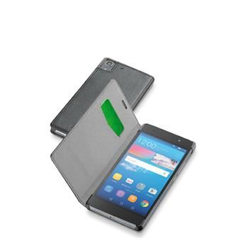 Pouzdro typu kniha CellularLine Book Essential pro Huawei Y6, černé