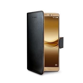 Pouzdro typu kniha CELLY Wally pro Huawei Mate 8, PU kůže, černé