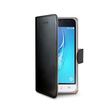 Pouzdro typu kniha CELLY Wally pro Samsung Galaxy J1 (2016), PU kůže, černé