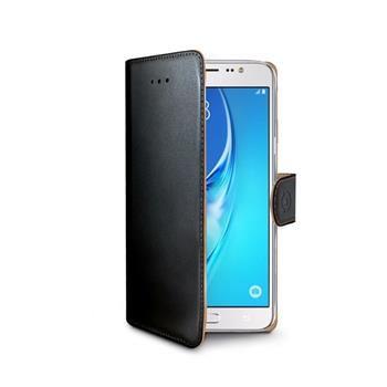 Pouzdro typu kniha CELLY Wally pro Samsung Galaxy J7 (2016), PU kůže, černé