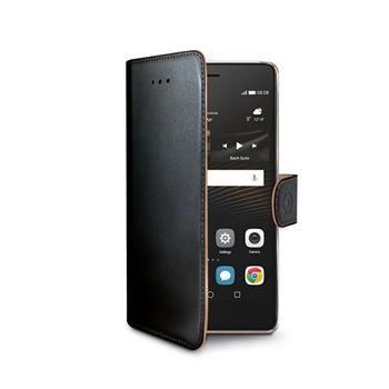 Pouzdro typu kniha CELLY Wally pro Huawei P9 Lite, PU kůže, černé