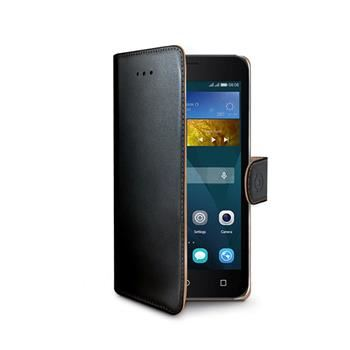 Pouzdro typu kniha CELLY Wally pro Huawei  Y5, PU kůže, černé