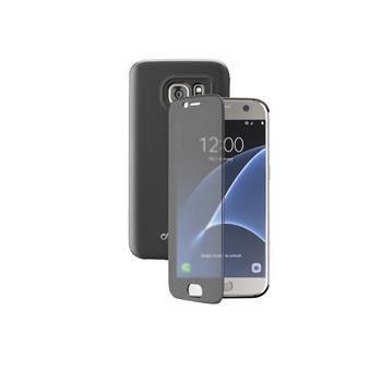 Pouzdro typu kniha Cellularline TOUCH s dotykovým čelním krytem pro Samsung Galaxy S7, černé
