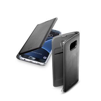Pouzdro typu kniha CellularLine FLIP BOOK pro Samsung Galaxy S7 EDGE, černé