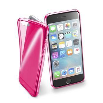 Barevné gelové pouzdro Cellularline FLUO pro Apple iPhone 6/6S, růžové