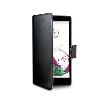 Pouzdro typu kniha CELLY Wally pro LG G4C, PU kůže, černé