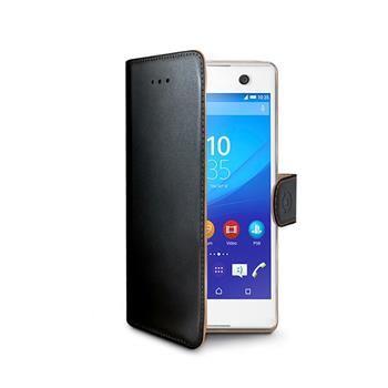 Pouzdro typu kniha CELLY Wally pro Sony Xperia M5, PU kůže, černé