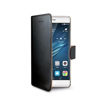 Pouzdro typu kniha CELLY Wally pro Huawei  P9 Plus, PU kůže, černé