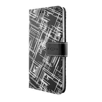 Pouzdro typu kniha FIXED Opus pro Huawei P9 Lite, motiv White Stripes