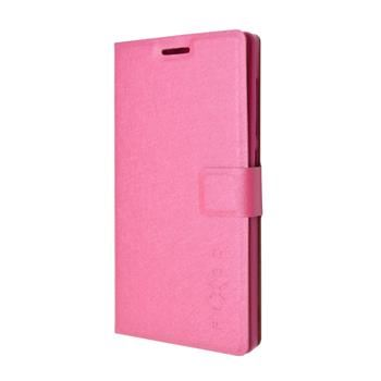 Pouzdro typu kniha FIXED s gelovou vaničkou pro Microsoft Lumia 650, růžové