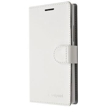 Pouzdro typu kniha FIXED FIT pro Lenovo Vibe K5/K5 Plus, bílé
