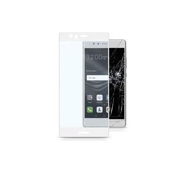 Ochranné tvrzené sklo pro celý displej CellularLine CAPSULE pro HUAWEI P9, bílé