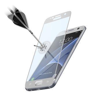 Ochranné tvrzené sklo pro celý displej CellularLine CAPSULE pro Samsung Galaxy S7, bílé