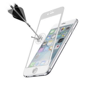 Ochranné tvrzené sklo pro celý displej CellularLine CAPSULE pro Apple iPhone 6/6S, bílé