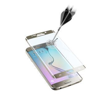 Ochranné zaoblené tvrzené sklo pro celý displej CellularLine GLASS pro Samsung Galaxy S6 EDGE, zlaté