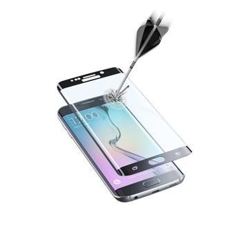 Ochranné zaoblené tvrzené sklo pro celý displej CellularLine GLASS pro Samsung Galaxy S6 EDGE, černé