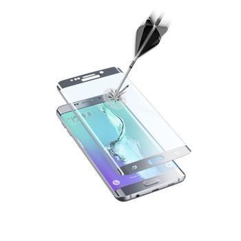 Ochranné zaoblené tvrzené sklo pro celý displej CellularLine GLASS pro Samsung Galaxy S6 EDGE Plus, stříbrné
