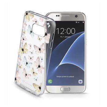 Průhledné gelové pouzdro Cellularline STYLE pro Samsung Galaxy S7, motiv FLY
