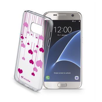 Průhledné gelové pouzdro Cellularline STYLE pro Samsung Galaxy S7, motiv HEART