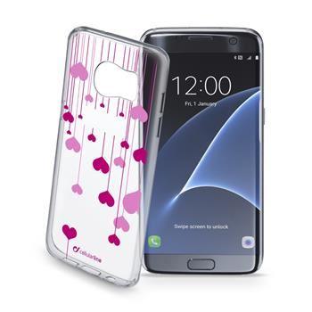 Průhledné gelové pouzdro Cellularline STYLE pro Samsung Galaxy S7 EDGE, motiv HEART